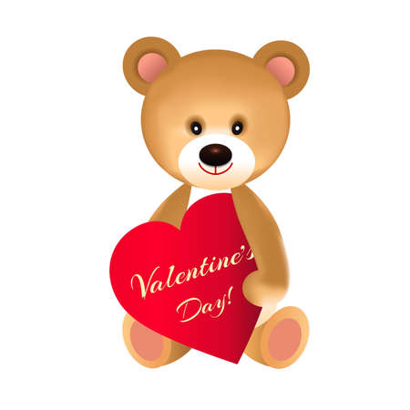 Bear with a red heart