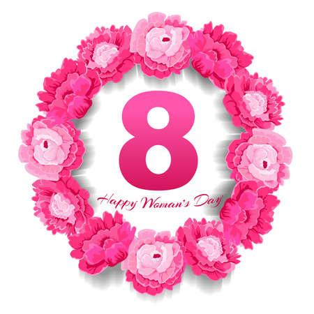 Flower card March 8 international womens day 向量圖像