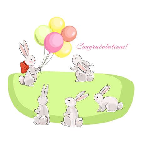 rabbits and balloons