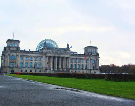 Building of the Reichstag in Berlin. The Bundestag in Germany. Historic building in Berlin
