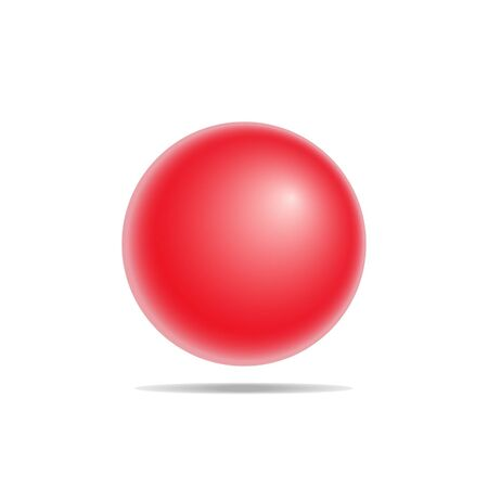red ball: Realistic red ball,vector illustration Illustration