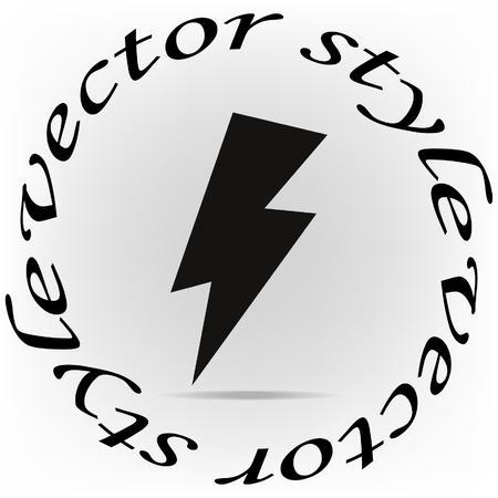 thunderstorms: Lightning icon, vector illustration