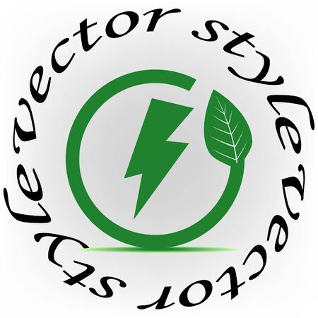 Energy Saver green eco icon, vector illustration