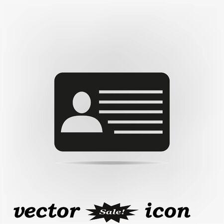 Document icon, black vector illustration