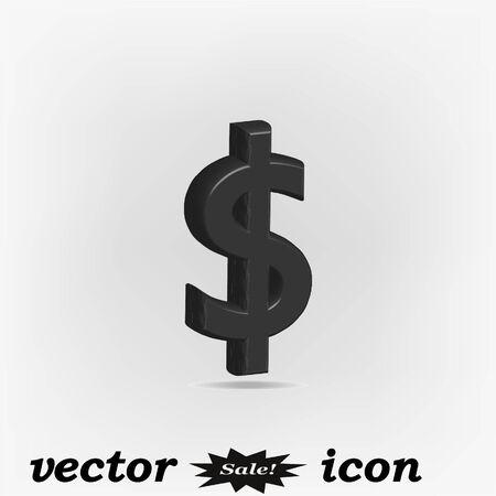 Money lable, 3d vector illustration Illustration