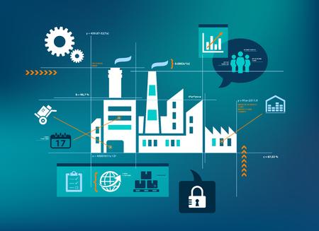 smart company illustration - data analysis  optimisation concept Stock Photo