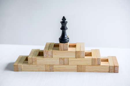 Leadership chess and thinking strategy plan about crash overthrow the opposite team and development analyze for successful. Stock Photo - 132719514