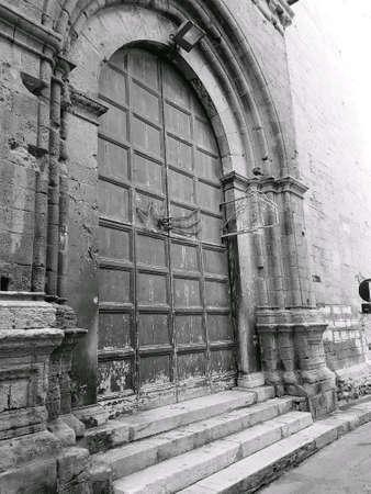 ancient church gates Stock Photo