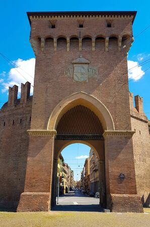 Medieval gate in Bologna