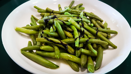 Bean with balsamic vinegar