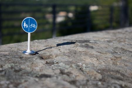 Divided sidewalk signal