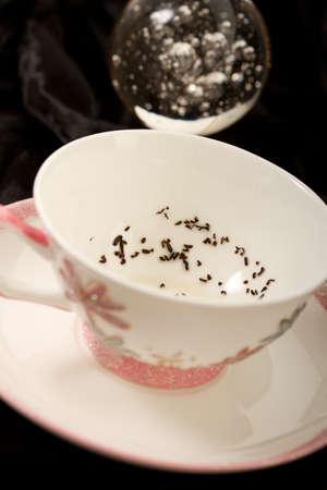gitana: Hojas de t� en una taza