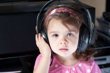 Child listening to music