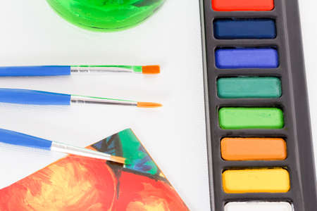 Paints and brushes Stock Photo - 14988967