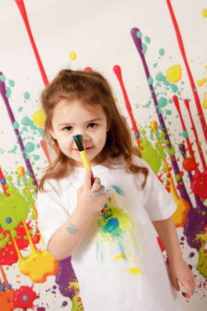 Child Painting Stock Photo