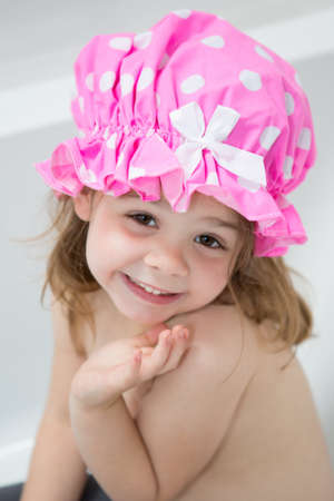 Child having a bath Stock Photo