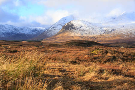 Snow covered mountains, Glencoe Scotland