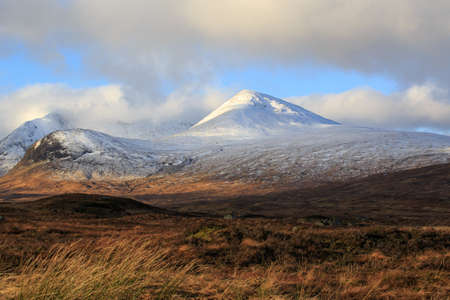 Snow covered mountains, Glencoe Scotland