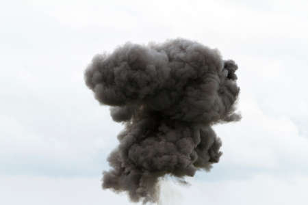 Large black cloud Stock Photo