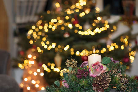december 25th: Christmas Candle Stock Photo
