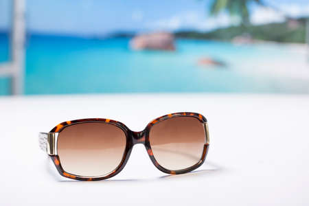 A pair of sunglasses Stock Photo