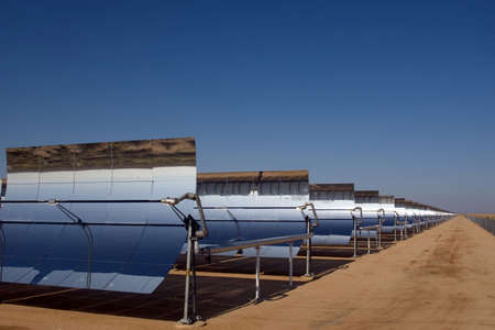 Solar power plant in the Mojave Desert.