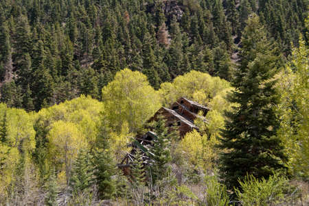 gold mining: Abandoned mill at an old gold mining town. Stock Photo
