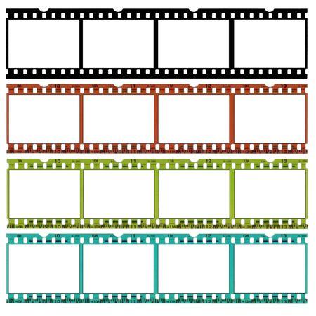 35: Una diapositiva de 35 mm en pel�cula b  w, original y dos colores diferentes, por un sitio ideal fronteras