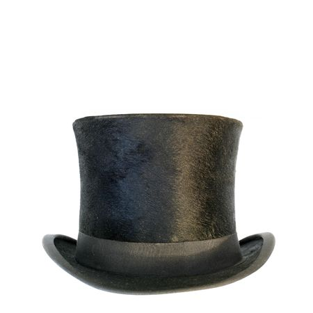 tophat: a black tophat isolated on white