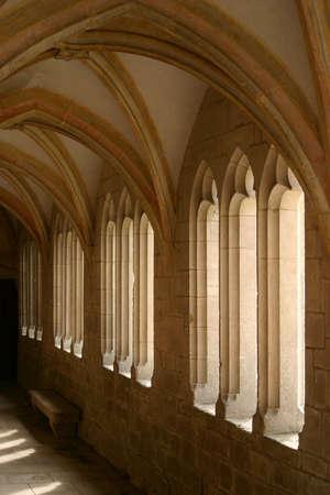 workship: An abbey walkway
