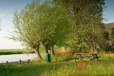 picknick: A beautiful camping or  picknick spot in the green