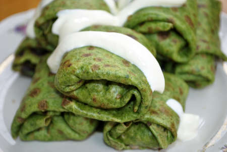 green spinach pancakes