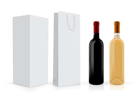 vector wine bottle mock up