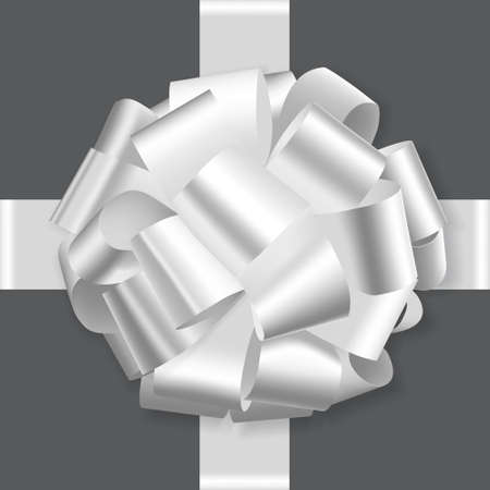 white holiday bow on white background vector