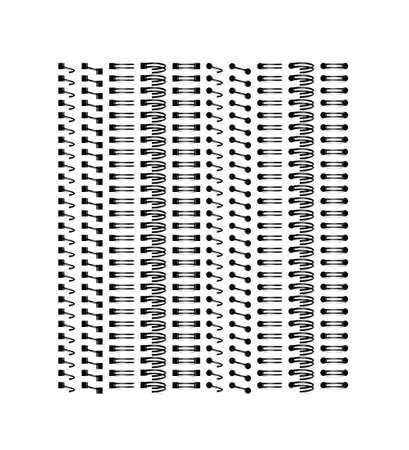 Spirals for binding notebook sheets. Vector