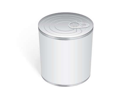 Tin can mock-up vector template