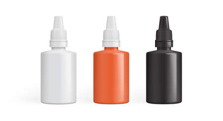 eye drops, drops for the ears, drops for the nose or packaging for glue. vector illustration isolated on white background Vecteurs