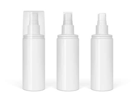 Realistic sprayer bottle isolated on white background  イラスト・ベクター素材