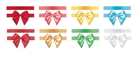 colorful bows for decoration vector