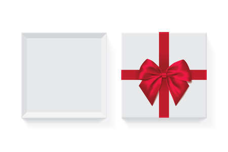open box with bow gift