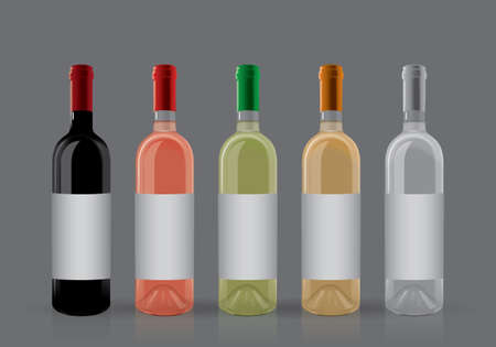 bottles of wine on a dark background