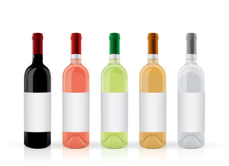 wine bottles with a label mock up
