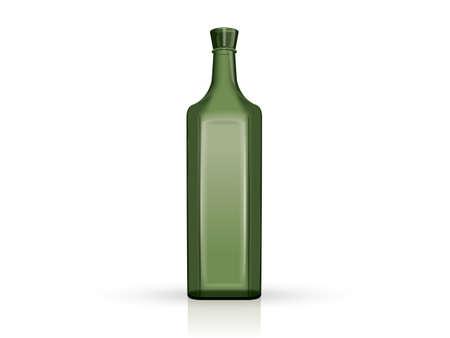 transparent green bottles  イラスト・ベクター素材