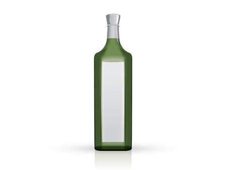 transparent green bottle