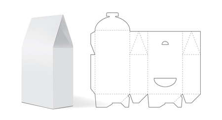 empty white paper packaging mock up vector