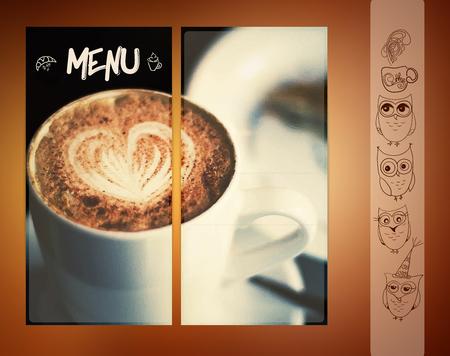 Vector coffee menu. For restaurant, cafe bar coffeehouse