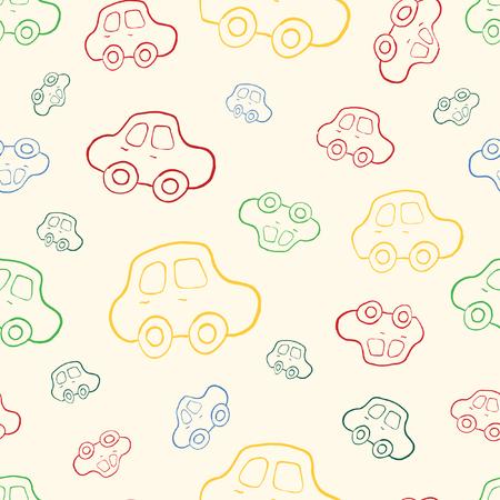 boyish: seamless baby boy pattern background. Background. Boyish wallpaper.Pattern with hand drawn cars.