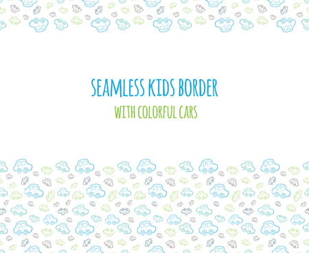 Seamless baby boy pattern background background boyish wallpaper set of seamless baby boy border with hand drawn cars elements for design kids banner voltagebd Image collections