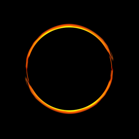 Solar Eclipse. Ve ctor illustration.Abstract ring background. Luminous swirling backdrop