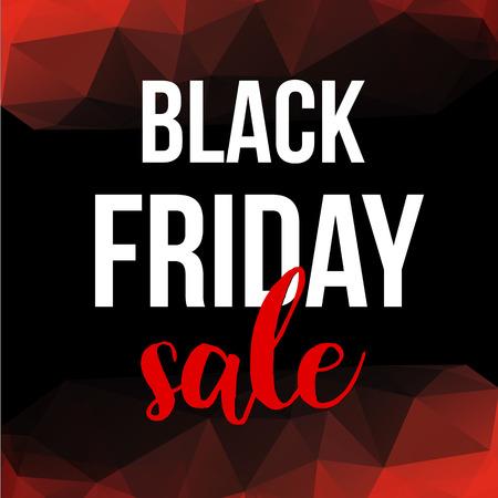 Vector Black Friday sale design template. Black Friday banner.